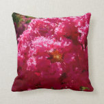 Crepe Myrtle Tree Magenta Flowers Throw Pillow