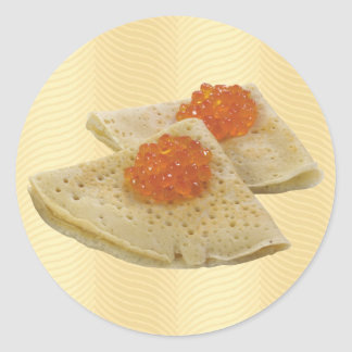 Crepes and Caviar Classic Round Sticker