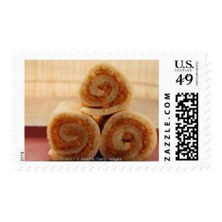 Crepes chinas llenadas de goma del cacahuete sellos