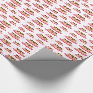 Crepes en modelo rosado de las placas papel de regalo
