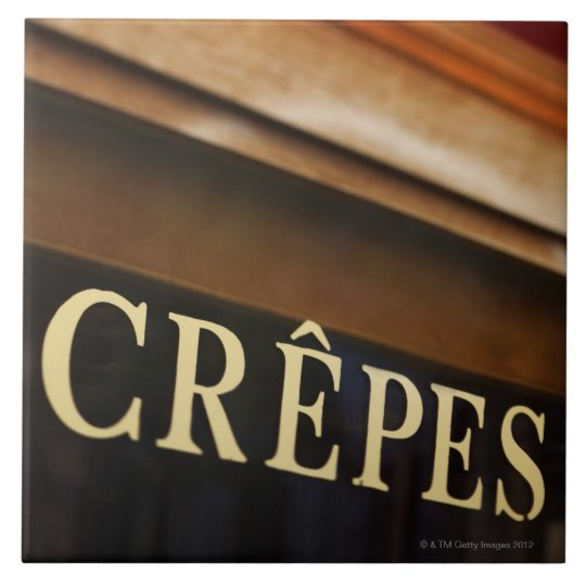 Crepes sign, Paris Ceramic Tile