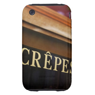 Crepes sign, Paris iPhone 3 Tough Covers