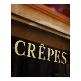 Crepes sign, Paris Poster