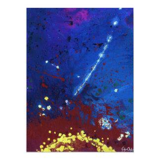 """(~ CREPUSCULAR del arte del espacio exterior) Invitación 6.5"""" X 8.75"""""""