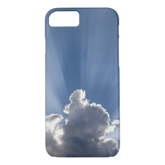 Crepuscular or God's rays streak past cloud. iPhone 7 Case