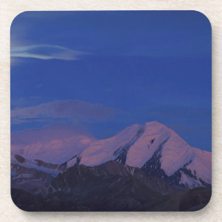 Crepúsculo Alaska del satén del cielo Posavasos De Bebida