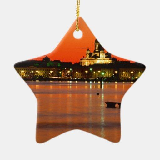 Crepúsculo anaranjado, Helsinki, Finlandia Ornamento De Reyes Magos