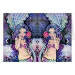 Crepúsculo atractivo - tarjeta en blanco