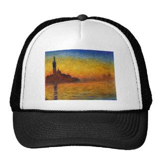 Crepúsculo de Claude Monet Venecia Gorras De Camionero