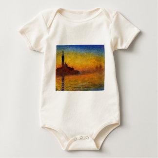 Crepúsculo de Claude Monet //Venecia Trajes De Bebé