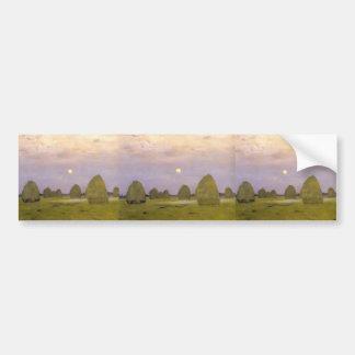 Crepúsculo de Isaac Levitan- Pilas Etiqueta De Parachoque