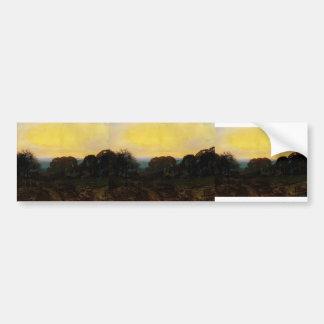 Crepúsculo de Juan Grimshaw- el huerto Pegatina De Parachoque