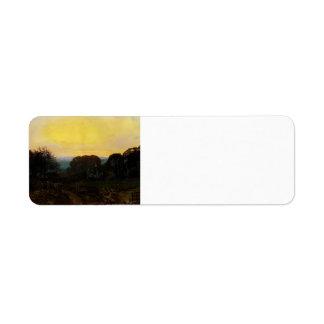 Crepúsculo de Juan Grimshaw-, el huerto Etiquetas De Remite
