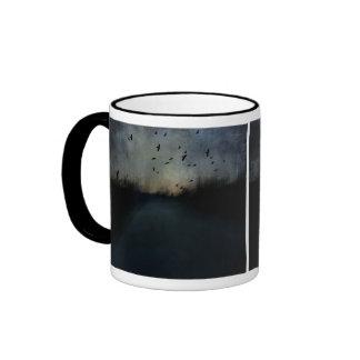Crepúsculo de la textura taza de café