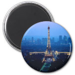 Crepúsculo de la torre Eiffel Iman Para Frigorífico