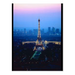 Crepúsculo de la torre Eiffel Postal