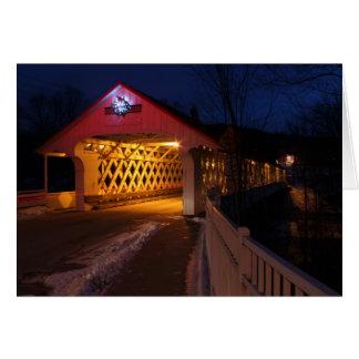 Crepúsculo de Winchester NH del puente cubierto de Tarjeta De Felicitación