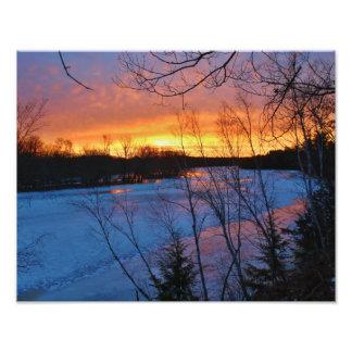 Crepúsculo del camino de Bennoch del río de Fotografía
