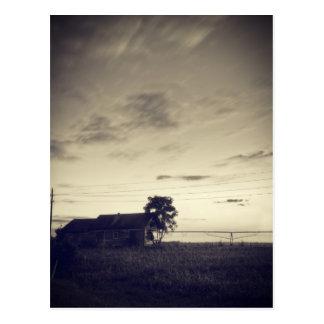 Crepúsculo del campo de Tejas Tarjeta Postal
