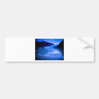 Crepúsculo del glaciar de Mendenhall Etiqueta De Parachoque
