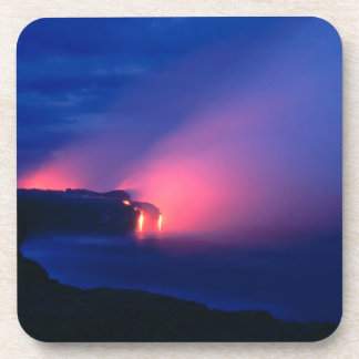 Crepúsculo del océano del flujo de lava de la pues posavasos de bebida