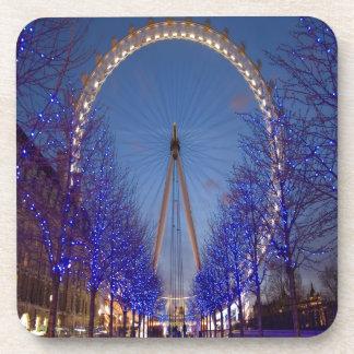 Crepúsculo del ojo de Londres Posavaso