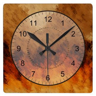 Crepúsculo del otoño reloj de pared