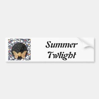 Crepúsculo del verano - collage etiqueta de parachoque