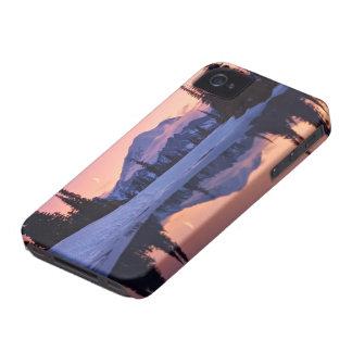 Crepúsculo, el Tarn y luna creciente iPhone 4 Funda