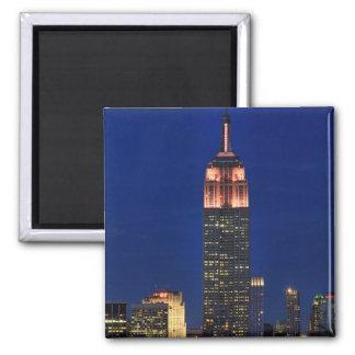 Crepúsculo Empire State Building encendido encima Imán Para Frigorífico