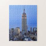 Crepúsculo: Empire State Building encendido encima Puzzle