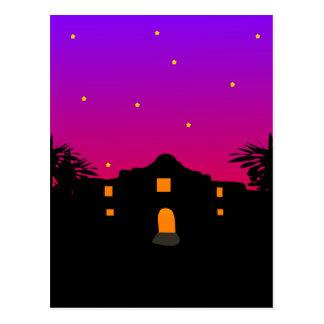Crepúsculo en la postal de Álamo
