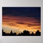 Crepúsculo en New York City Impresiones