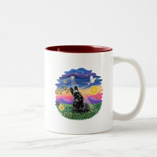 Crepúsculo - escocés Terrier Taza De Café De Dos Colores