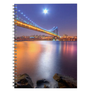 Crepúsculo, George Washington BridgePalisades, NJ. Libros De Apuntes Con Espiral