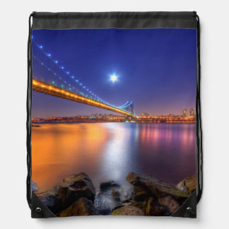 Crepúsculo, George Washington BridgePalisades, NJ. Mochilas