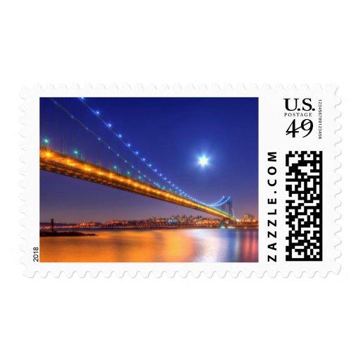 Crepúsculo, George Washington BridgePalisades, NJ. Sellos