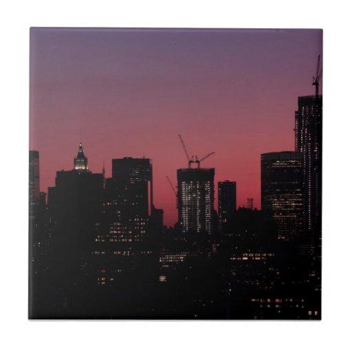 Crepúsculo: Un World Trade Center encendido para a Azulejo Ceramica