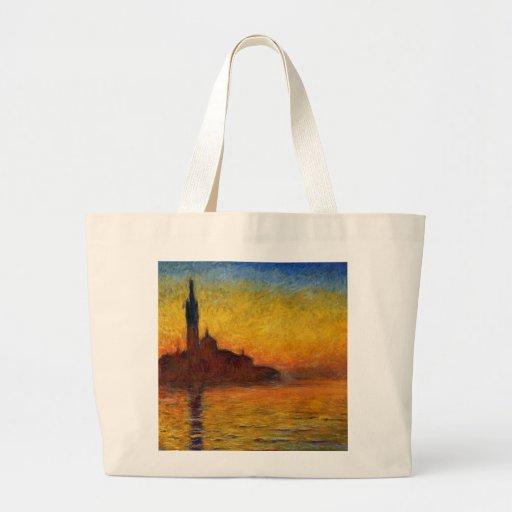 Crepúsculo, Venecia de Claude Monet Bolsas