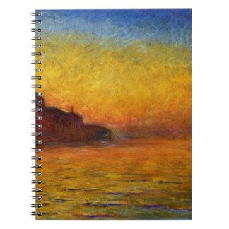Crepúsculo, Venecia de Claude Monet Libro De Apuntes Con Espiral