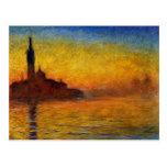 Crepúsculo, Venecia de Claude Monet Postal