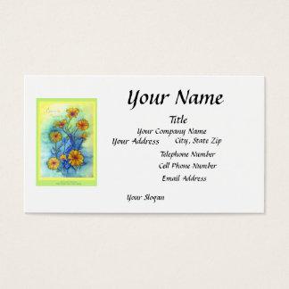 Crescendo Primrose White Business Card