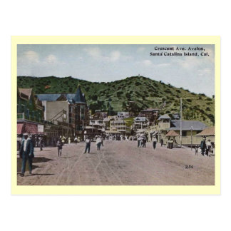 Crescent Ave, Avalon, Catalina Island Vintage Post Card