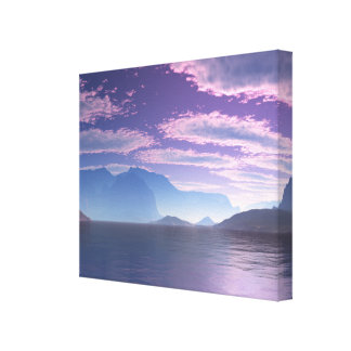 Crescent Bay Sci Fi Landscape Canvas Wrap Print