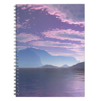 Crescent Bay Sci Fi Landscape Spiral Notebook