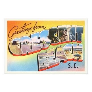 Crescent Beach South Carolina SC Vintage Postcard- Photo Print