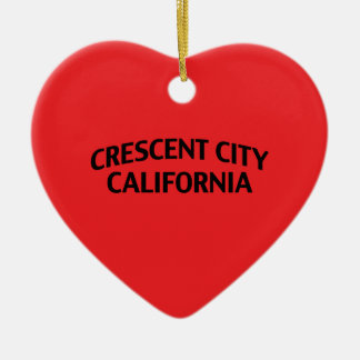 Crescent City California Ceramic Ornament
