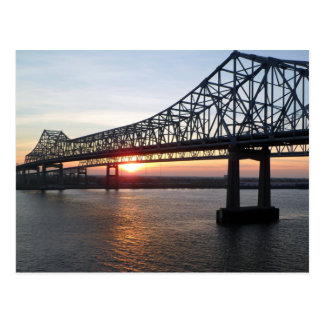Crescent City Connection at Sunset New Orleans Post Cards