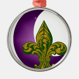 Crescent City Fleur de Lis Metal Ornament