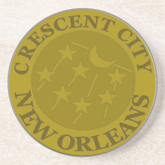 Crescent City New Orleans Sandstone Coaster